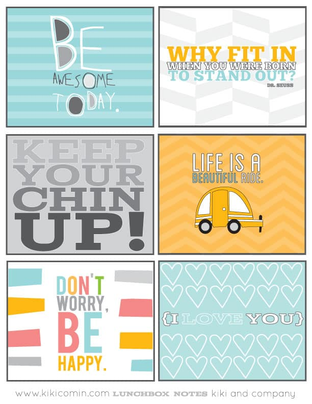 picture relating to Printable Lunchbox Notes named 8 Cute Totally free PRINTABLE LUNCHBOX NOTES