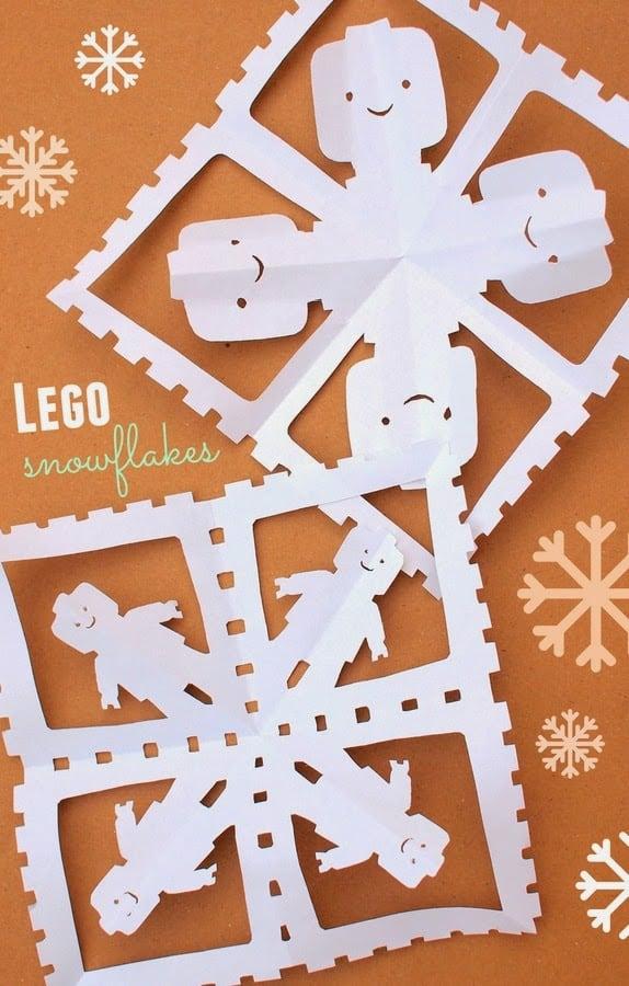 Make Lego Paper Snowflakes