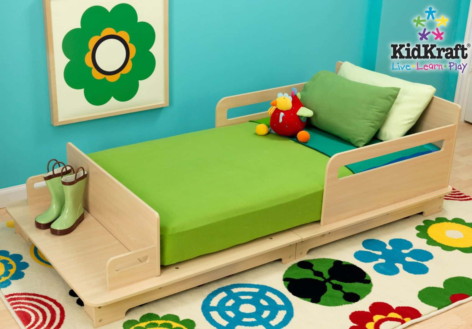Kidcraft Modern Toddler Bed 14977 Another Contemporary Design From This Has Lines And Natural Wood Construction With A Built In