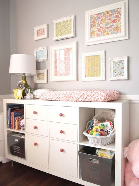Fabric Frames Via Chic Nursery Framing Pieces Of Adds A And Inexpensive Way To Customize Add Your Own Personal Style