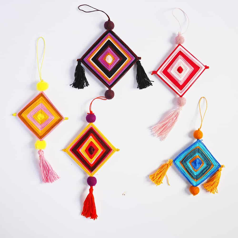 Ojo De Dios Ornament Yarn Craft