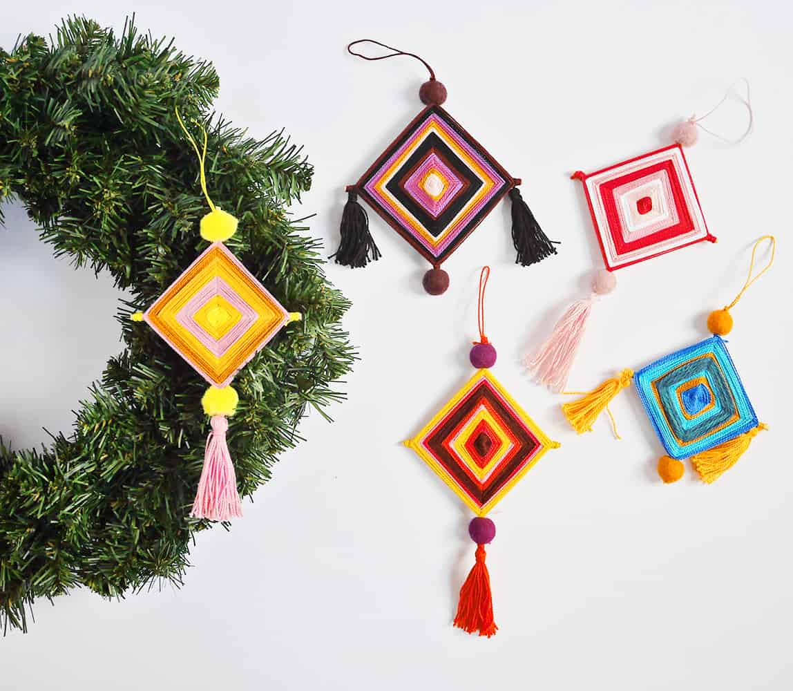 image about God's Eye Printable Instructions named OJO DE DIOS ORNAMENT YARN CRAFT