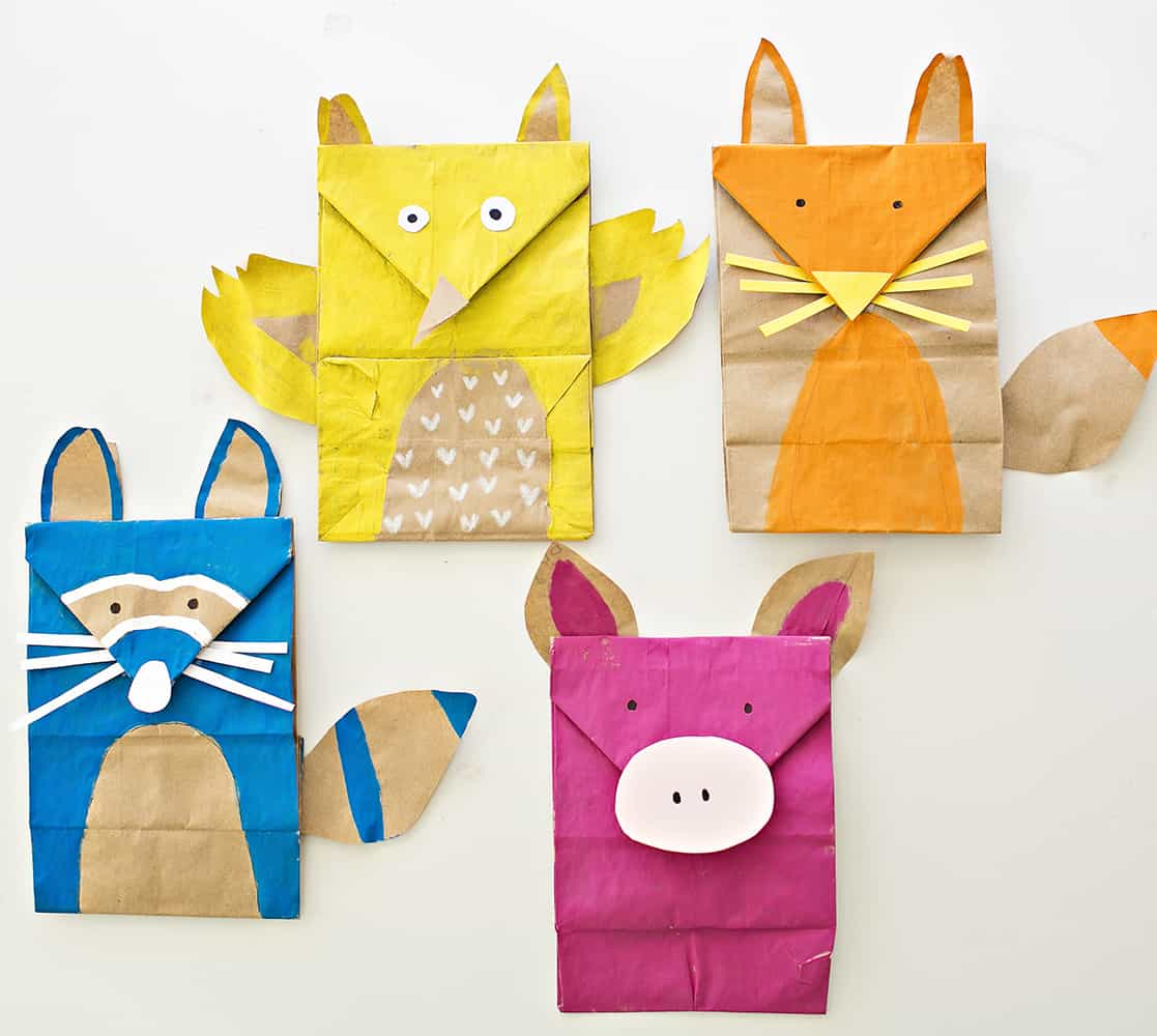 Paper bag woodland animal craft how cute are these paper bag animals for imaginative play you can also stand up the bottoms so they stand upright jeuxipadfo Image collections