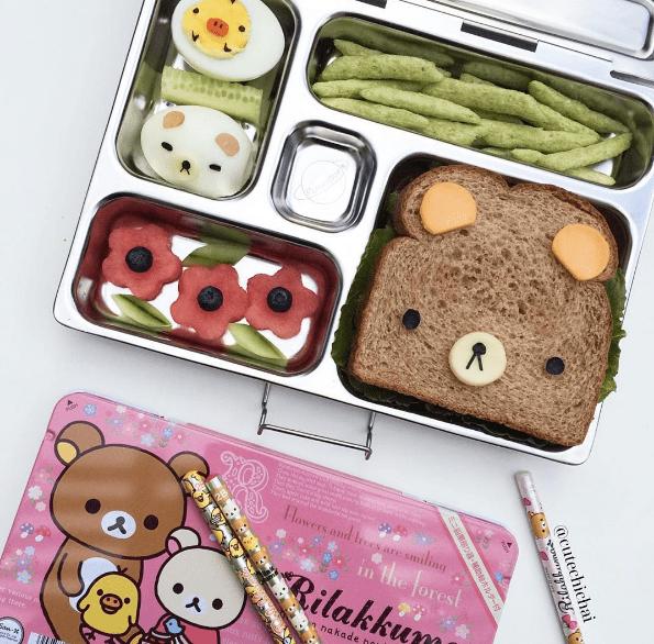 Bear Sandwich Lunch Box Via Cutechichai