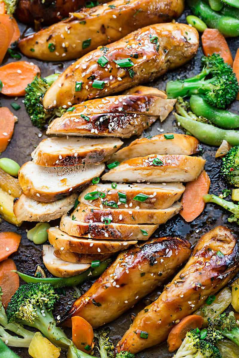 Sheet Pan Teriyaki Chicken and Veggies