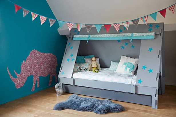 We adore the playful colors and how the Cabin Tent Bed can become integrated as part of a childu0027su0027 magical playroom or bedroom. Its creative design becomes ... & DREAMY AND MAGICAL CHILDRENu0027S BEDS FROM CUCKOOLAND