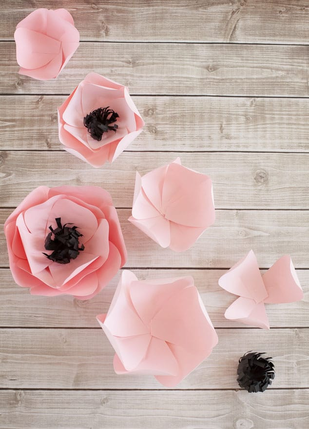 11 gorgeous ways to make paper flowers lots of folding is involved here but an easy petal template and the final results make it worth it to make a few of these cute paper flowers mightylinksfo