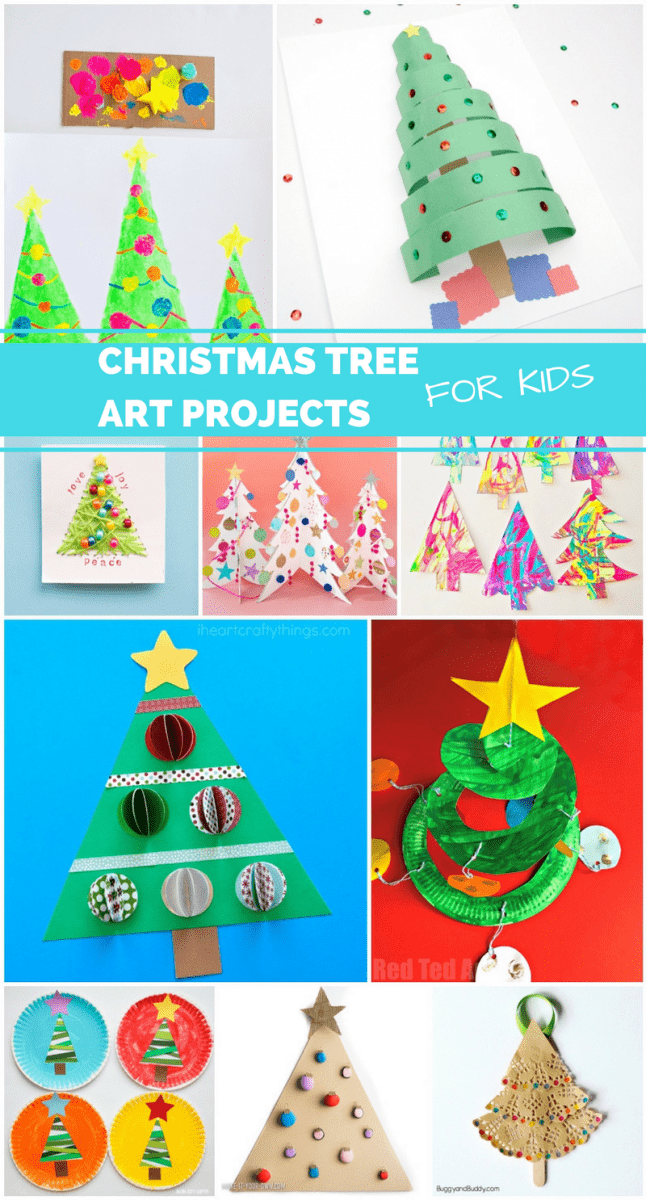 10 artsy christmas tree projects for kids 10 artsy christmas tree projects for kids