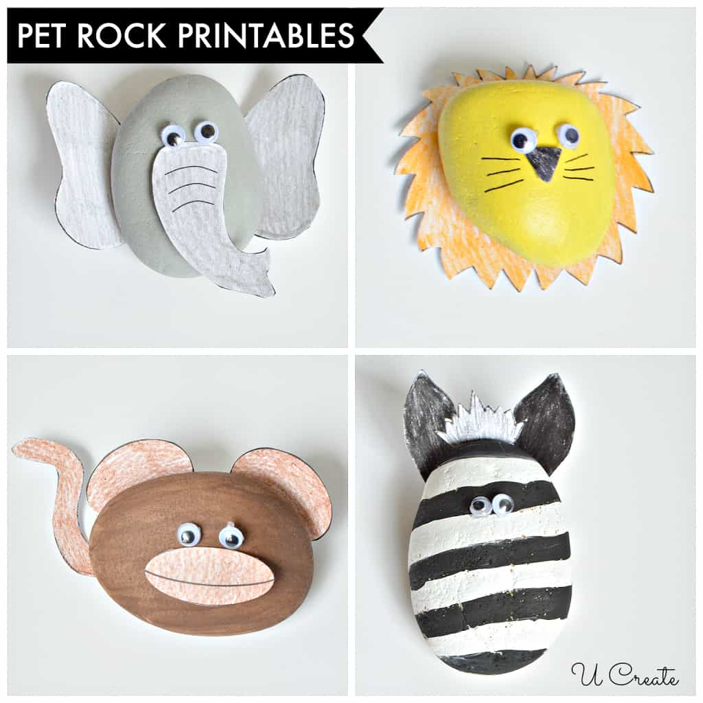 Diy Pet Rock Printables