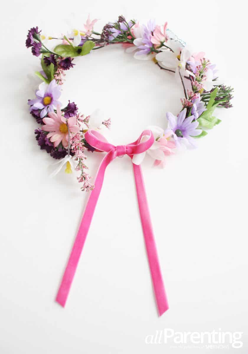 10 ways to make a pretty floral crown fairy flower crown via all parenting silk flowers are used in this magical fairy crown which means it can be worn many times again for endless izmirmasajfo Images