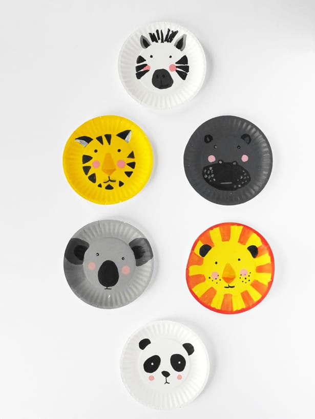 Diy Animal Paper Plate Faces