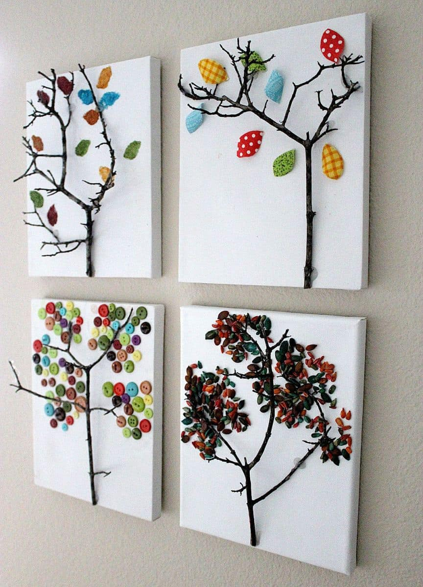 10 awesome autumn tree crafts for Art and craft decoration