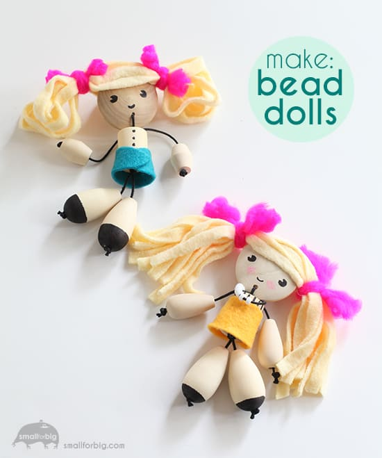 craft ideas beads diy wooden bead dolls 1521