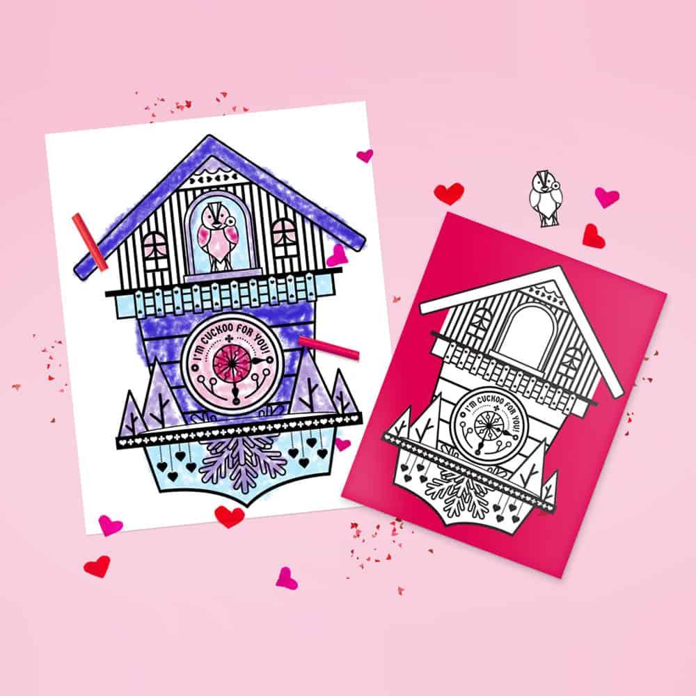CUCKOO CLOCK PRINTABLE POP-UP CARD