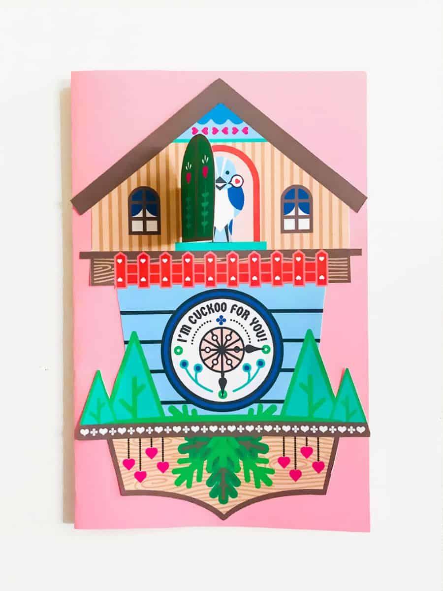 CUCKOO CLOCK PRINTABLE POP UP CARD