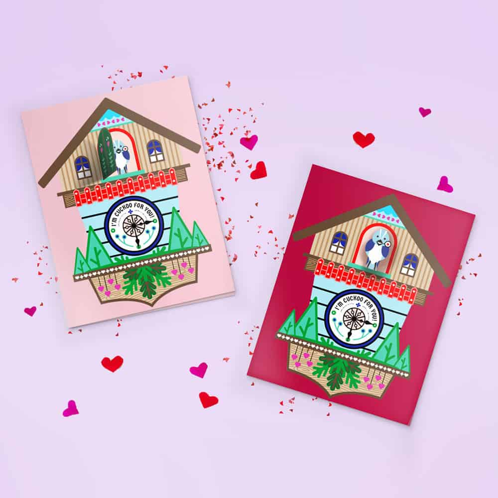 Cuckoo Clock Printable Pop Up Card