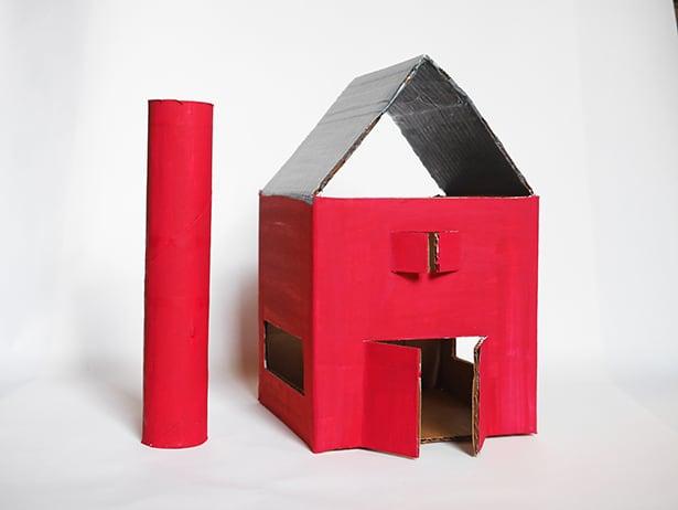 Diy Easy Recycled Cardboard Play Barn