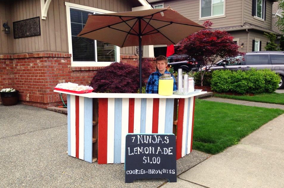 10 inventive pallet projects for kids for How to build a lemonade stand on wheels