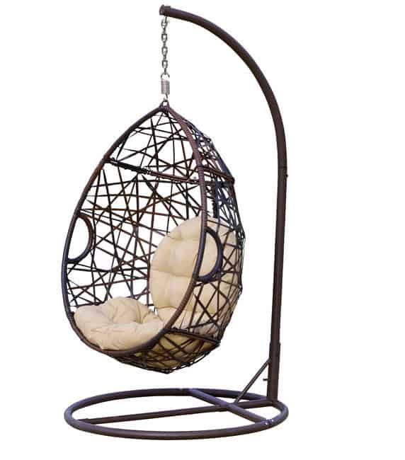 Berkeley Swinging Chair (via Houzz) Donu0027t Want To Deal With The Hanging  Tools And Hardware? This Hanging Chair Gives You That Lounging Feel All In  One Frame ...