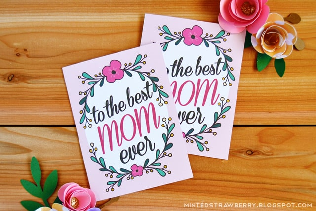 hello Wonderful 12 PRETTY FREE PRINTABLE MOTHERS DAY CARDS – Free Printable Mother Birthday Cards