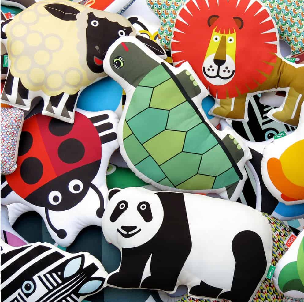 hello wonderful modern animal kids u0027 cushions by bibu
