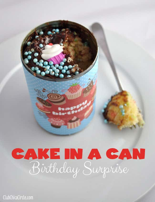 Birthday Cake In A Can Via The 36th Avenue Fun Way To Have Your And Eat It Too Is Exactly What Sounds Like