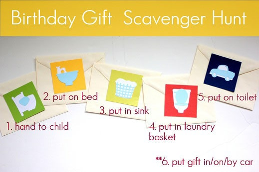 Birthday Scavenger Hunt Via Vanilla Joy Do You Have A Present For Child That Want To Be The Result Of Little Work And Fun