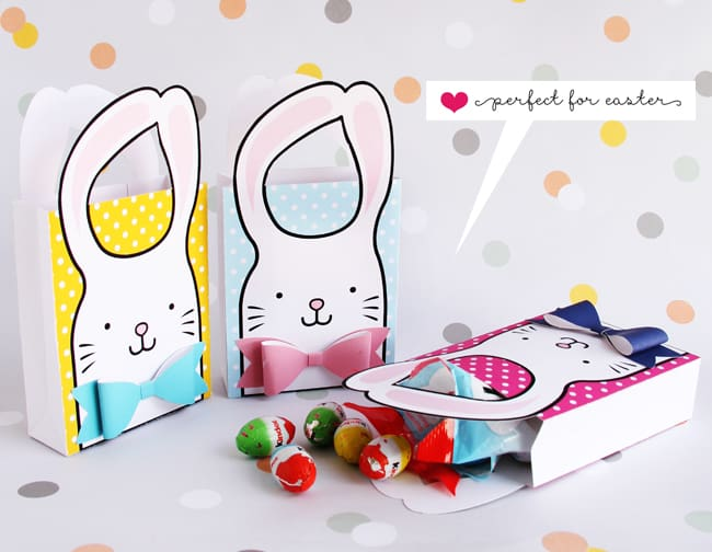 Hello wonderful bunny bow free printable goodie bags fill these sweet bunny and bow goodie bags with your favorite easter treats get the free printable below and details to make your own in 3 fun colors negle Image collections