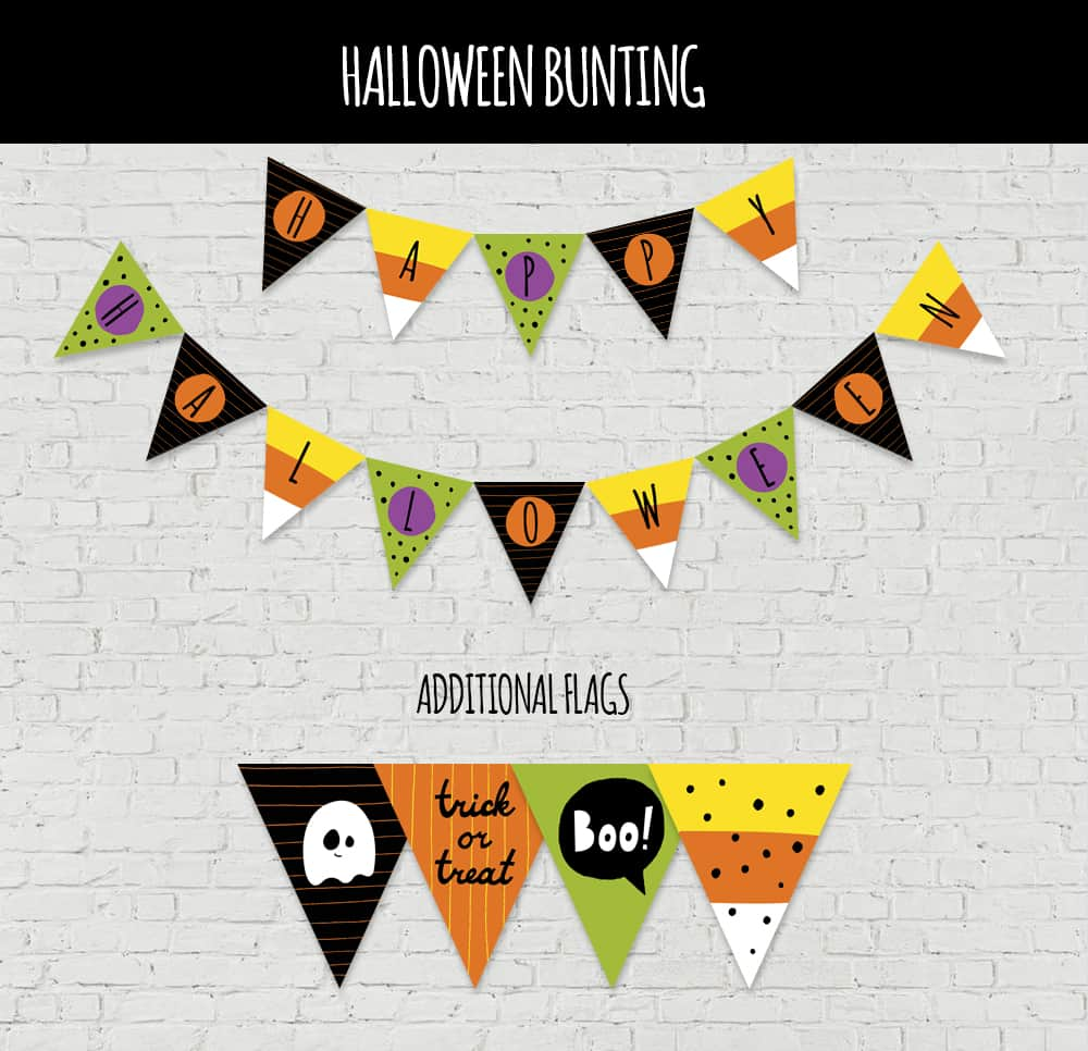 photograph regarding Halloween Pictures Printable known as FESTIVE Absolutely free PRINTABLE HALLOWEEN BUNTING