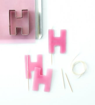 make birthday letter candles