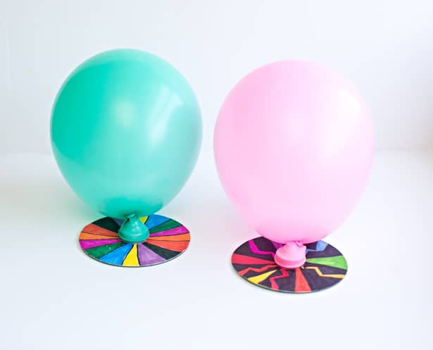 Make A Cd Balloon Hovercraft Designed With Kids Art