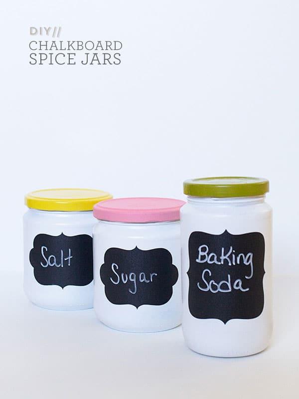 Diy Chalk Spice Jars
