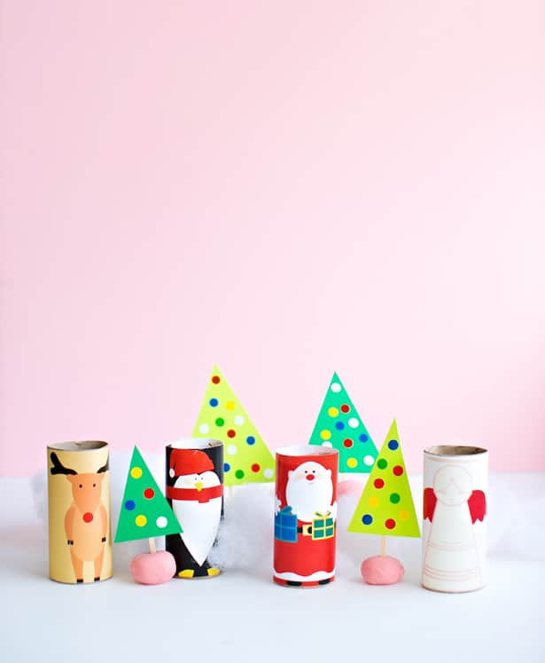 Hello, Wonderful - Christmas Paper Tube Characters With Free