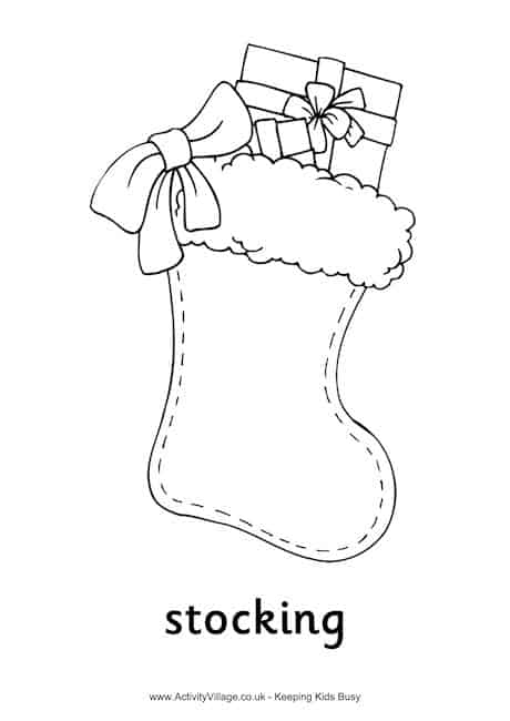6 fun and engaging christmas printables for Christmas stocking color page
