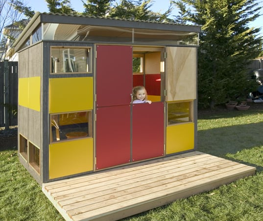 10 fascinating modern playhouses for Modern sheds for sale