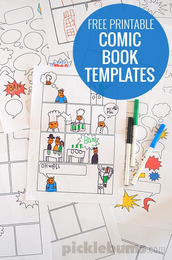 Lively image regarding free printable children's book template