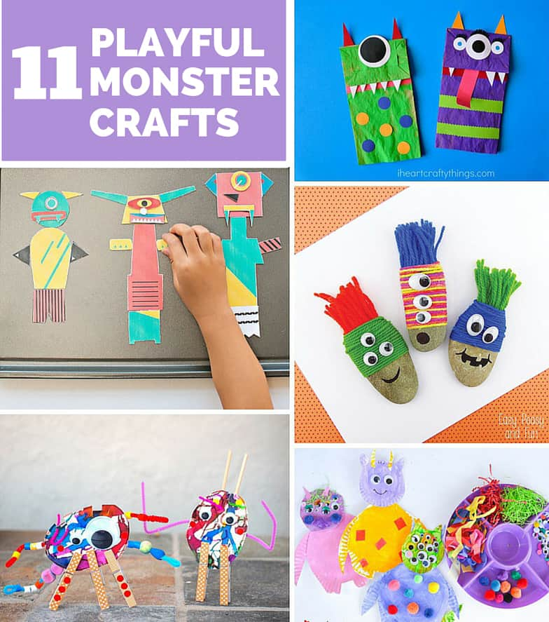 11 Cute And Playful Monster Crafts Kids Will Love