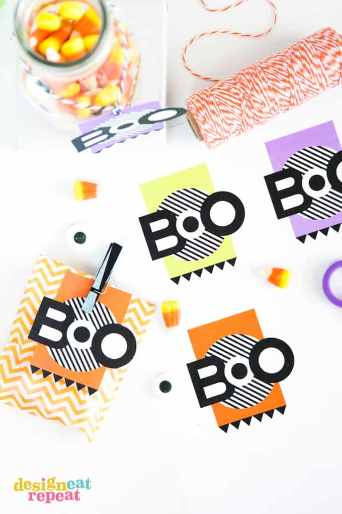 12 spooky and fun free printable halloween favors for kids boo printable tags via design eat repeat halloween treat negle Gallery