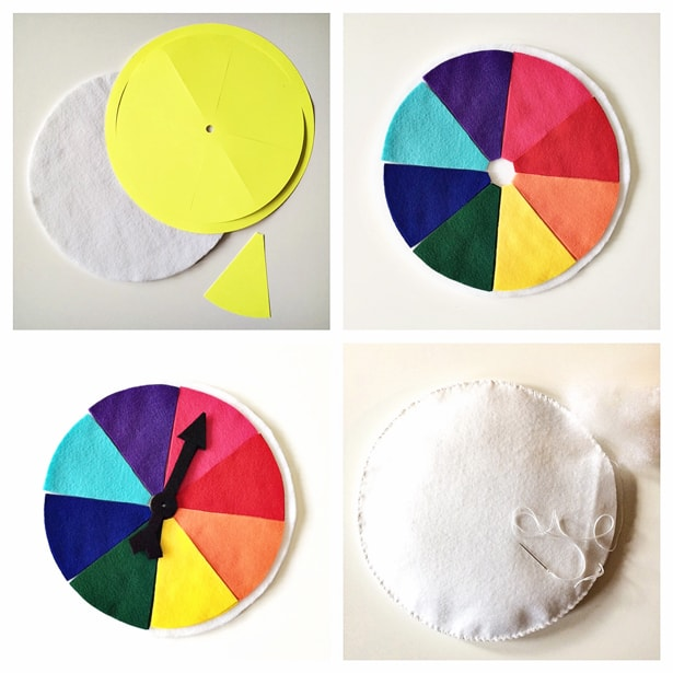DIY FELT COLOR WHEEL TO TEACH KIDS COLORS