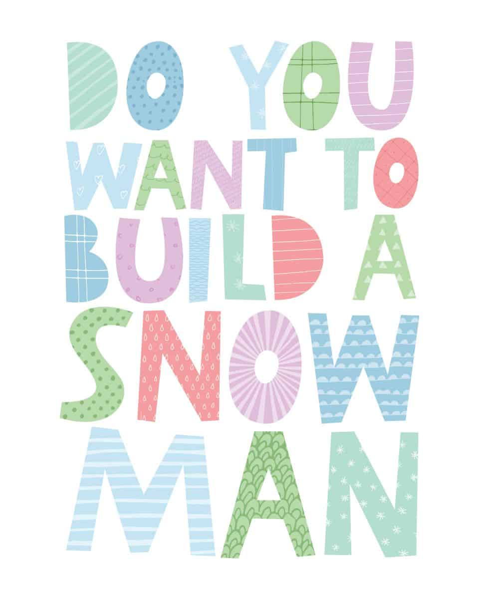 graphic about Do You Want to Build a Snowman Printable named DO Oneself Need Toward Establish A SNOWMAN Totally free PRINTABLE Family vacation PRINT