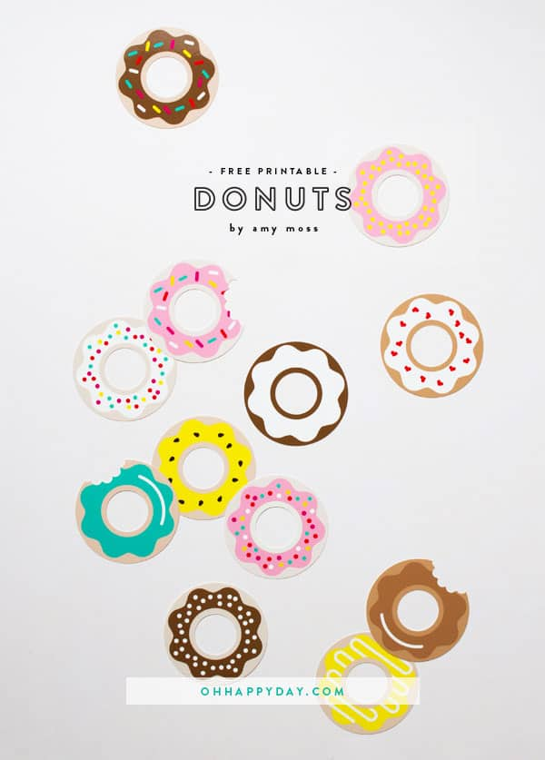 Cute Free Printable Donuts