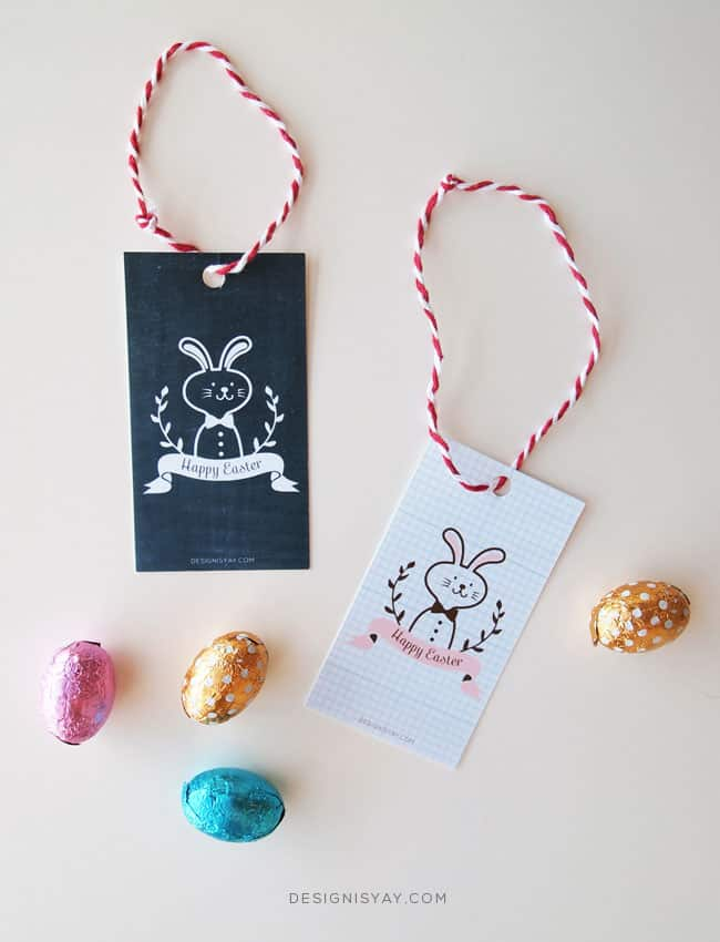 13 fantastic free easter printables printable easter gift tags via design is yay these simple and cute gift tags can be added with a cheerful note to any easter gift negle Image collections