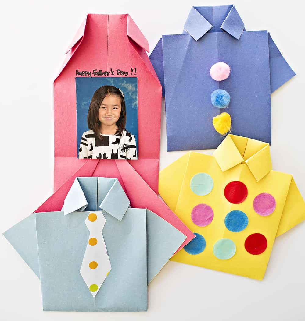 how to make a fathers day shirt card easy origami shirt s day card 8210