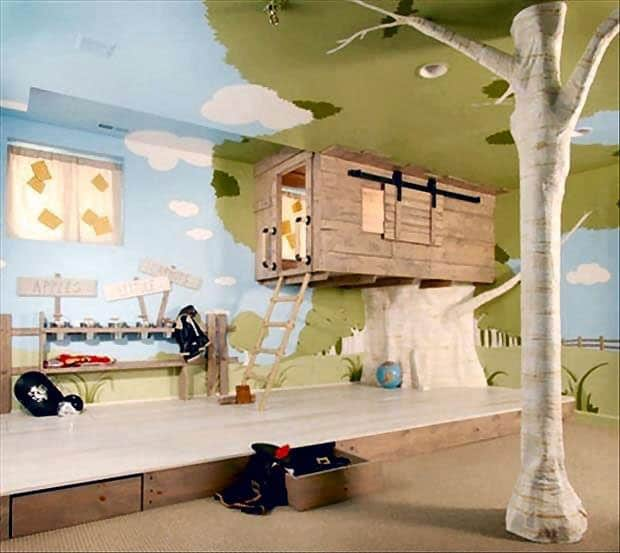 12 Brilliant Indoor Tree Houses