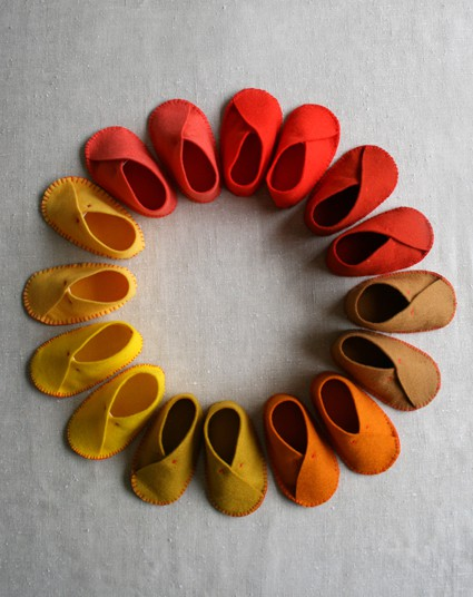 Babies outgrow shoes so quickly! How helpful to have a scalable cut pattern to use as they grow.