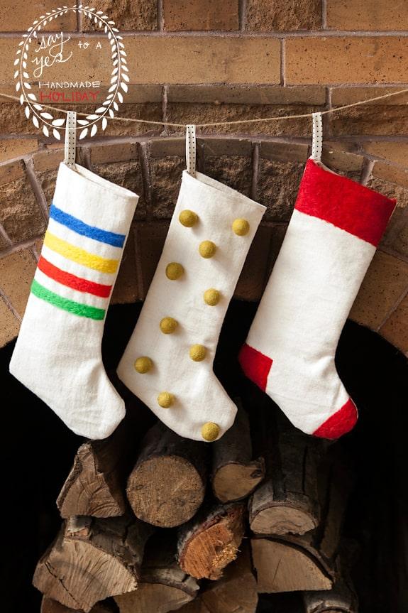 hello, Wonderful - 8 CHEERFUL DIY CHRISTMAS STOCKINGS