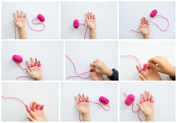 Finger Knitting For Kids : Kid made beaded finger knitting necklaces