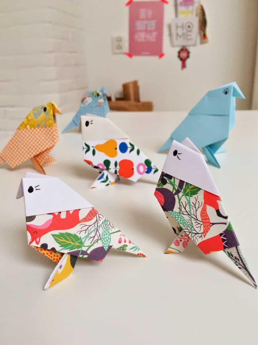 10 creative origami crafts for kids these cute origami birds are chirpy cheerful and so fun to make jeuxipadfo Choice Image