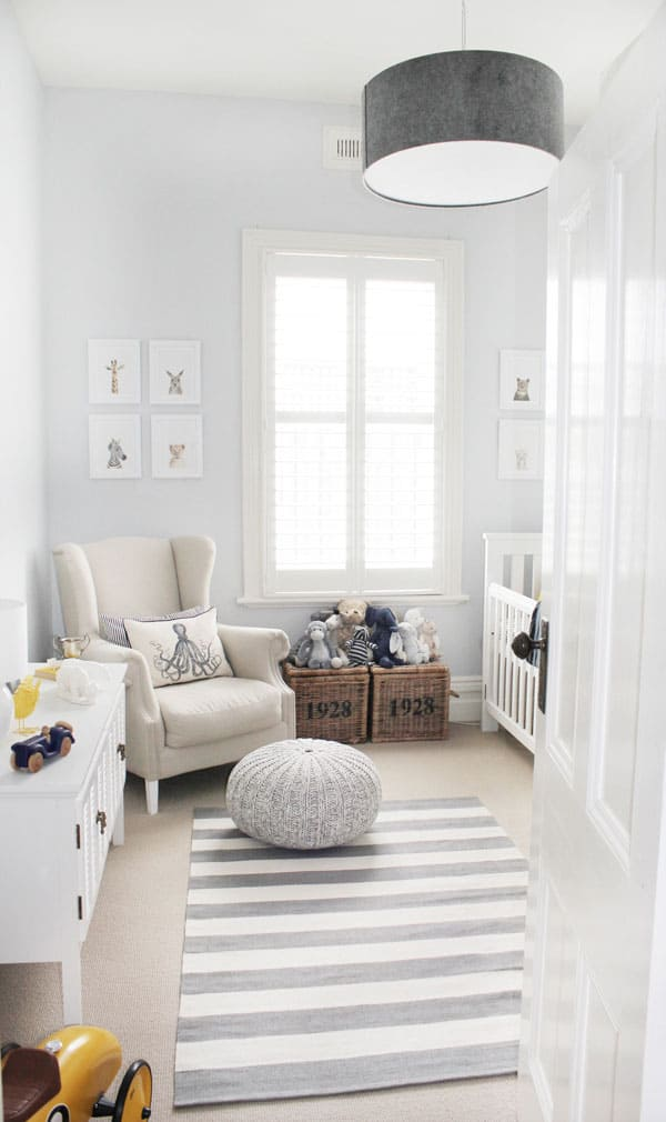 Sophisticated Modern Nautical Nursery: CHIC WHITE AND NEUTRAL NURSERIES