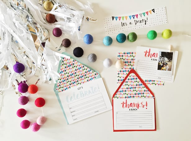 FESTIVE FREE PRINTABLE PARTY INVITATION SET FOR ANY OCCASION